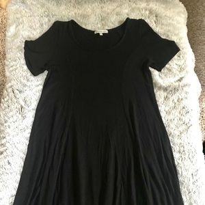 Charlotte Russe black tee shirt dress, small